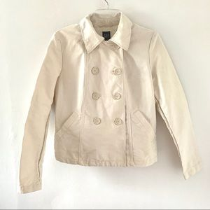 GAP Double-Breasted Cropped Cotton Jacket Size M